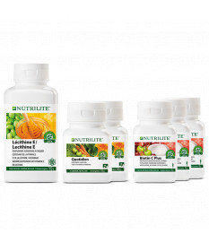 Kit éclat quotidien NUTRILITE™ - 2 Quotidien, 1 Lécithine E, 3 Biotine C Plus