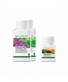 Kit Future Maman NUTRILITE™ - 1 x Fer/Acide Folique Plus, 2 x Cal Mag D Plus